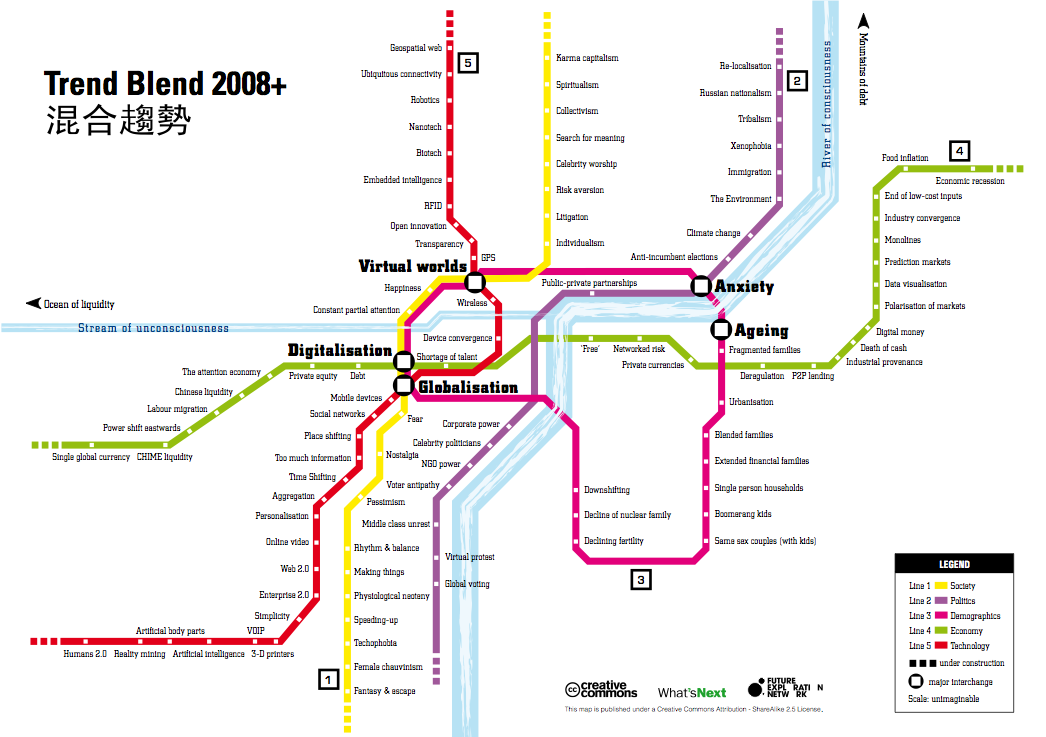 Trend Blend map 2008